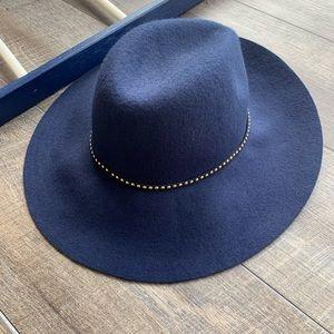 Accessories - Navy Blue Boho/ Chic Wool Hat